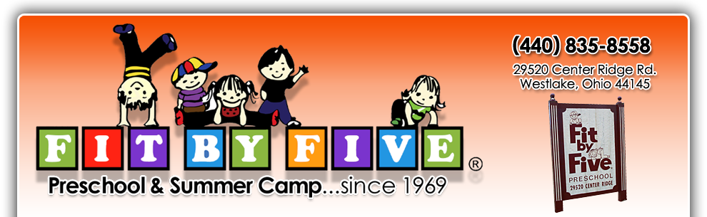 Fit By Five Preschool and Summer Camp in Westlake, Ohio.